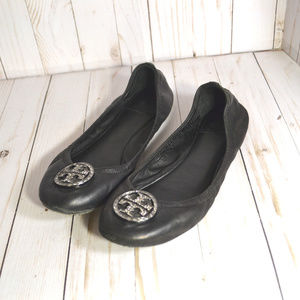Tory Burch Leather Flats Ballerina Shoes